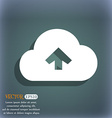 Upload from cloud icon symbol on the blue-green vector image