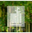 Bamboo logo on a blurred background design vector image