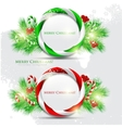 abstract glossy speech bubble with christmas candy vector image vector image