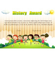 History award template with children in the park vector image vector image