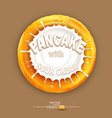pancake with a splash of sour cream isolated o vector image