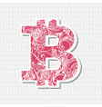 Bitcoin decorative symbol vector image