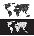 Black and White World Map Set vector image