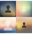 builder icon on blurred background vector image