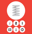 flat icon component set of spare parts absorber vector image