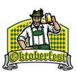 old man happy oktoberfest badge vector image