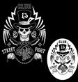 Street fighting vector image