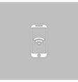 Wifi smartphone computer symbol vector image
