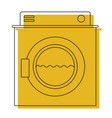 yellow watercolor silhouette of washing machine vector image