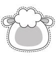 cute sheep kawaii character vector image