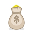 Money bag sign flat icon vector image