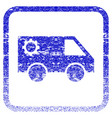 service car framed textured icon vector image