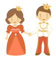 Prince and princess2 vector image vector image