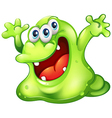 A green slime monster vector image vector image