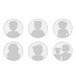 monochrome six avatars - men woman and family vector image