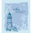 hand drawn lighthouse vector image vector image