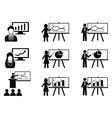black Business lecture seminar meeting vector image