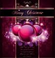elegant merry christmas vector image