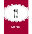 restaurant menu design with table utensil vector image