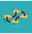 Startup launching process flat web infographic vector image vector image