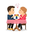 Couple in love dating vector image