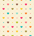Checkered color seamless textured polka dots vector image