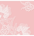 Lace background with space for text Template vector image
