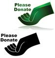 Please donate vector image