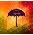 Retro umbrella symbol on hipster background made vector image