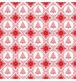 scandinavian seamless cross stitch with xmas tree vector image