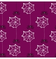 Seamless Pattern Halloween Spiderweb vector image