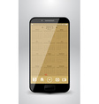 Smartphone with calendar for year 2015 vector image