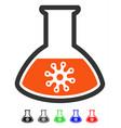 virus analysis flat icon vector image