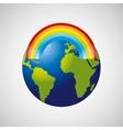 globe earth weather meteorology rainbow vector image