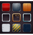 Backgrounds for apps icons vector image