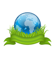 Go green life environment symbol isolated vector image vector image