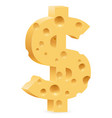 dollar sign on white background for design vector image vector image