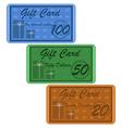 Retro gift card vector image