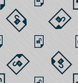 file unlocked icon sign Seamless pattern with vector image