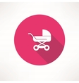 Baby buggy icon vector image