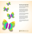 Colored butterflies cut from paper vector image
