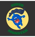 cute monster T-shirt graphics cute cartoon vector image