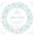 floral wedding wreath vector image