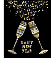Gold New Year drink toast luxury party celebration vector image