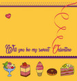 Greeting card for saint valentines day vector image