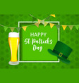 happy saint patricks day background design vector image