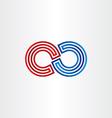 infinity symbol icon design vector image