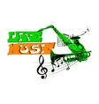 label live music saxophone and trumpet vector image