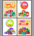 total sale best prices discount final offer labels vector image
