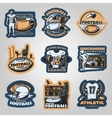 American Football Competitions Emblems vector image
